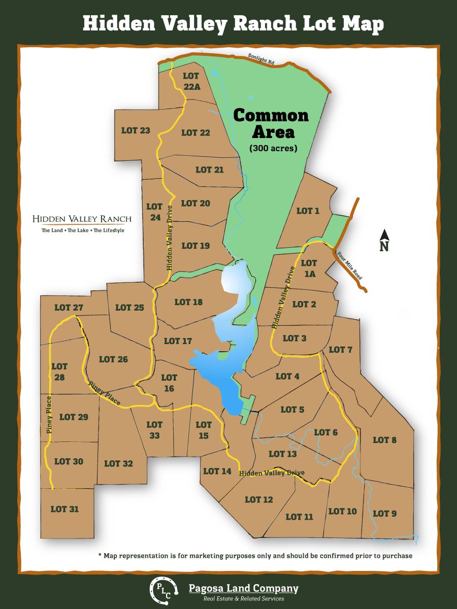 Hidden valley ranch property map